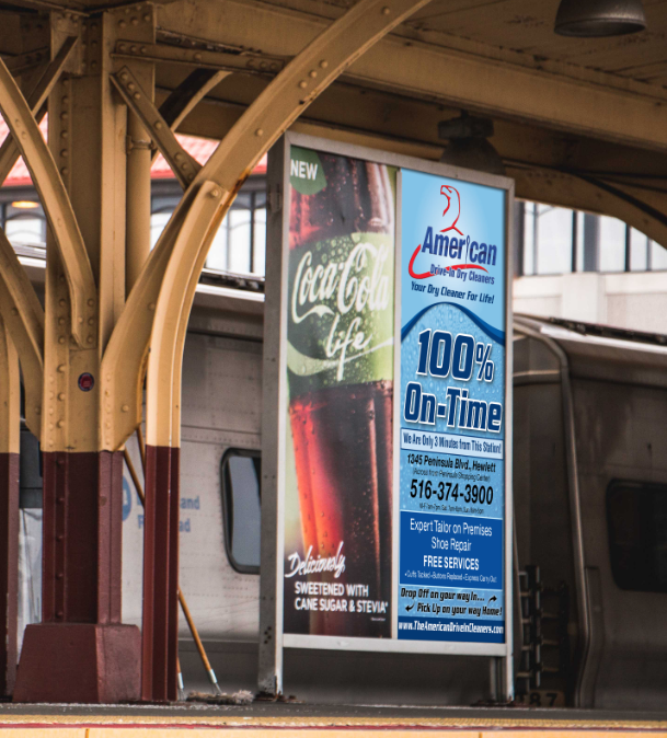 American-Cleaners-Hewlett-Dry-Cleaner-Drycleaner-LIRR-Long-Island-Railroad-Transit-Advertising